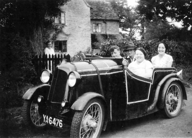 Off for a drive! Maud Ody front passenger