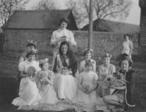 Joanna Ody, Ruth Sharpus, Diana Sharpus, Sue Hobbs, Verona Peverill, Pam Hutt, Daphne Wheeler, Sue Axford, Valerie Cripps, Fay Nicholson