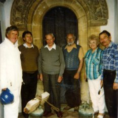 Peter Davies, David Douglas, Vic Hodgkins, Jim Venn, Barbara Douglas, Bert Smith