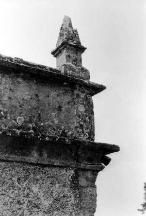 Weathered and crumbling stonework