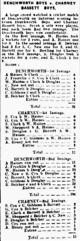 North Wilts Herald - Friday 20 July 1934 Cricket