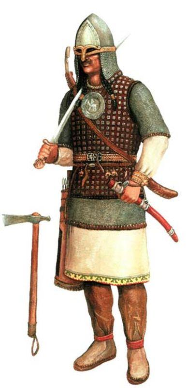 Реконструкция воинского доспеха угорского воина IX-XII вв. (по А.И.Соловьеву)