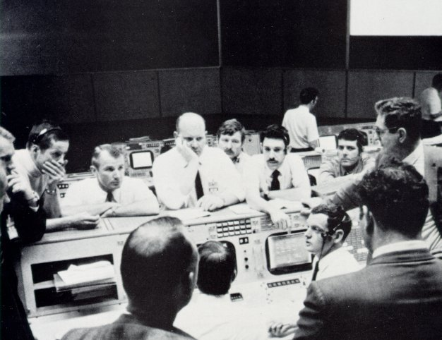 A photo of the Gold Team in Mission Control