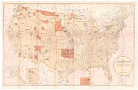 US Indian Reservation Map   Set 2  Mapping the Land   its People     US Indian Reservation Map