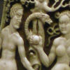 WLA_vanda_Powder_flask_Adam_and_Eve