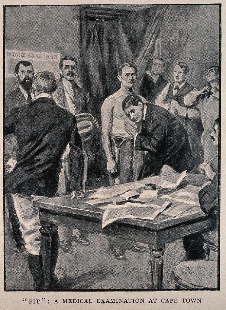 medical examination at Capetown, 1900