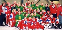 Calgary Junior AA team and Gloucester Junior AA team (coached by Jodi Jensen)  at the Edmonton Wood Tournament