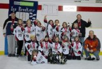 "Novice ""A"" NW Ice Breakers - won the Medicine Hat Tournament Novice Division"