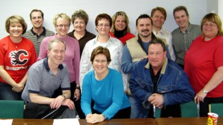 RINGETTE CALGARY BOARD OF DIRECTORS 2007-2008 Back Row: Mark Ward, Barb Cook, Shawna Pollock, Brad Charlton, Paul Geddes Middle Row: Marlayne Brandsgard, Linda Shorter, Laureen Prefontaine, Rick Hann, Laura Webb Front Row: Adrian Shorter, Iveah Hutchison, Ron Crawford