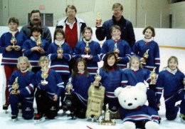 "CALGARY NOVICE ""B"" Bow View Teddies - City Champions"