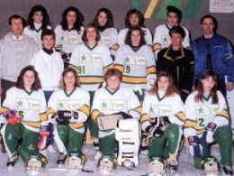 PROPERTIES TWEEN A Back Row: Marty Robertson, Jessica Kitella, Kristina Kruchkowski,Sharlene Marschall, Toni Palmer Middle Row: Paul Jensen (coach), Marlene Jensen (manager), Sommer McLauchlin, Jay Rainey, Jill Press (manager), Paul Rainey (coach) Front Row: Kari Sirup, Chrus Press, Leigh Tinkler, Jodi Jensen, Alissa Sills