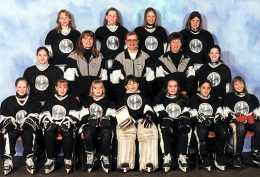NW PETITE B BLACK PANTHERS Back Row: Allison Snowden, Allison Griffin, Kelsey Smith, Erica Van Tetering Middle Row: Stephanie Toft, Dana Pardo (asst coach), Bob Barnes (coach), Kathy Griffin (mgr), XXX Front Row: Chris Mack, Morgan Klimosko, Kali Taylor, Holly Favell, Erin Barnes, Alli Pierre-Aquart, Stephanie Fairfield Missing: Andree Crawford (asst coach)