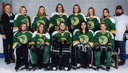 PSA RINGETTE BELLES FALCONS - City Finalists Back Row:Dale Humphreys (asst coach), Linnea Spence, Kelly Campbell, Julie Walker, Lauren Fillies, Melissa Humphreys, Shelly Newby, Lonnie Krahn (coach) Front Row: Tara Swan, Kendra Boharski, Brandy Krahn, Renee McLeod, Tara Babin Missing: Lil Walker (mgr), Kelly Hemaway, Kevin Gillies (asst coach)