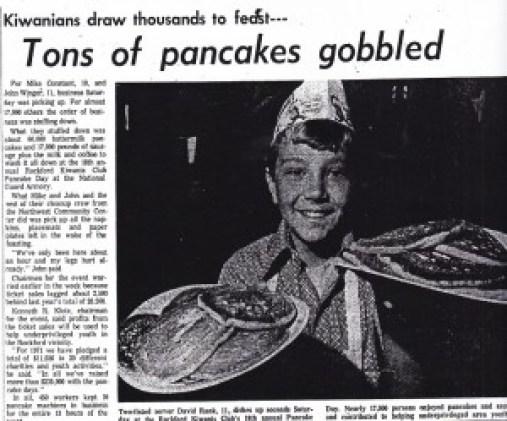 Kiwanis Pancake Day - Rank