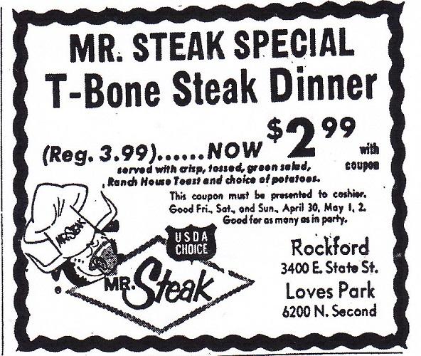 Mr. Steak restaurant – 1971