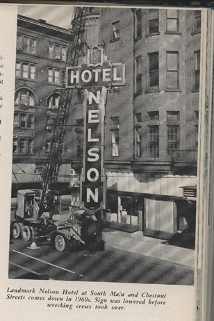 Hotel Nelson sign