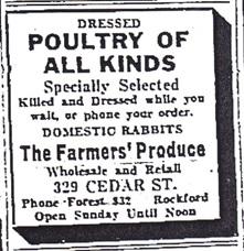Farmers Produce Company Advertisement, 1932