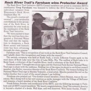 Farnham Receives 2013 Protector Award