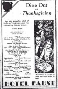 Thanksgiving 1929 advertisement