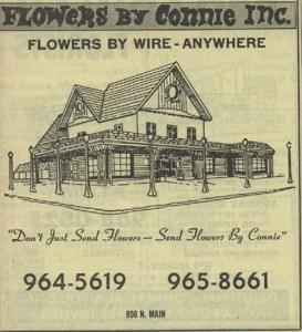 Flowers By Connie ad, 1976