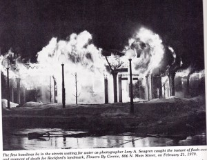 Fire at Flowers By Connie, 02/21/1979