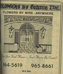 Flowers By Connie ad, 1970