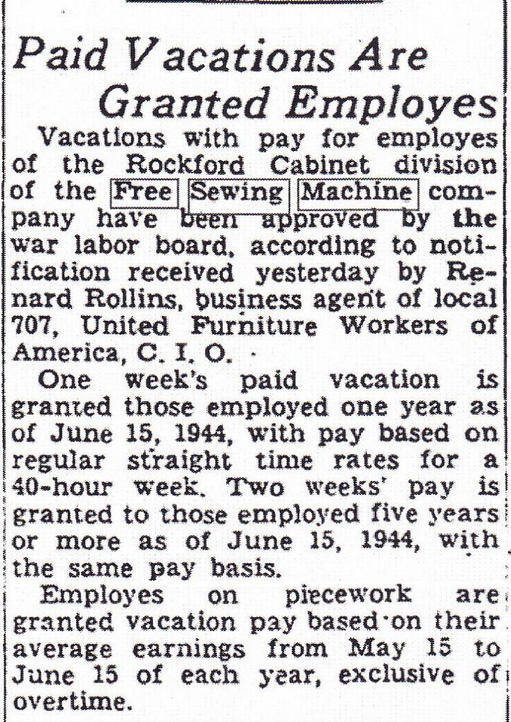 Free Sewing Machine Vaca