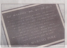 Mr. Fourth of July plaque