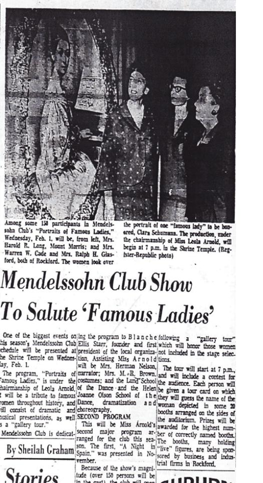 Mendelssohn club more