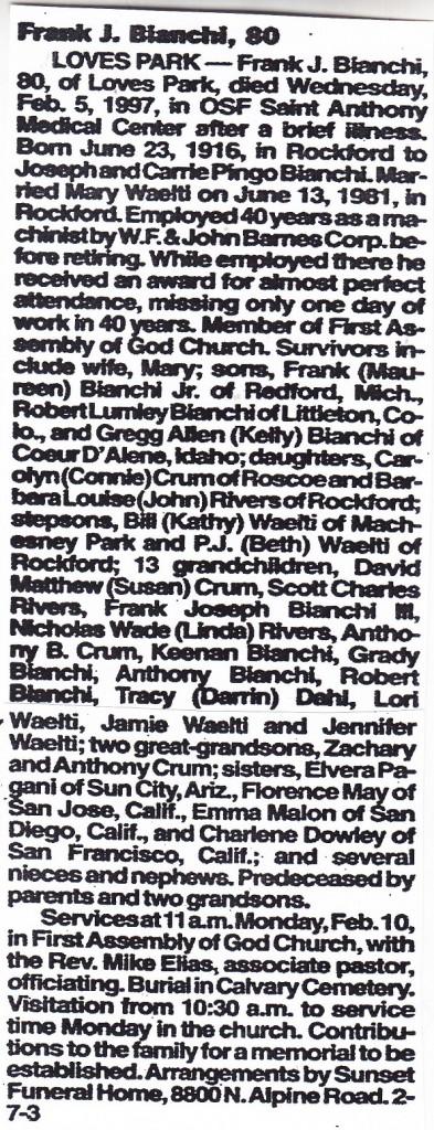 Bianchi, Frank J.