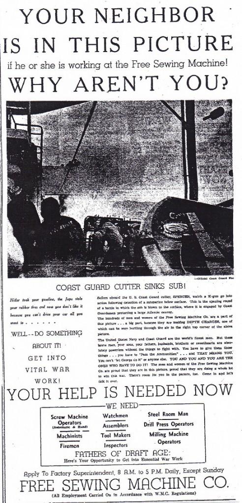 Free Sewing Machine 1943