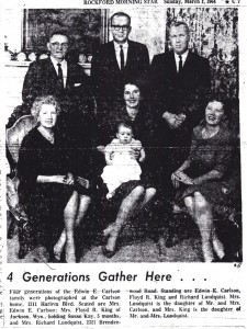 Edwin Carlson Family, 1964