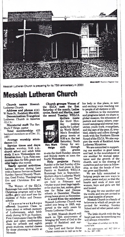 Messiah Lutheran Church of Rockford