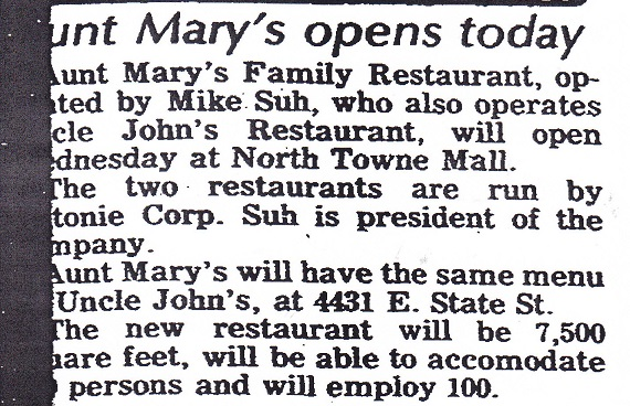 Aunt Mary's Restaurant