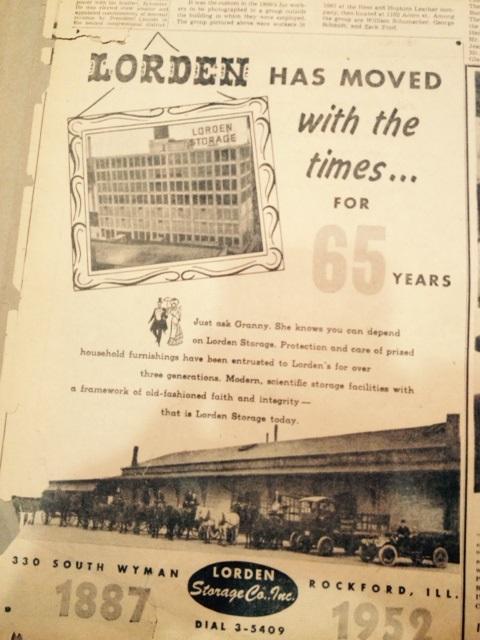 Lorden Storage 1952