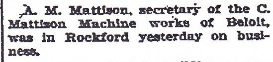 Mattison, A.M.