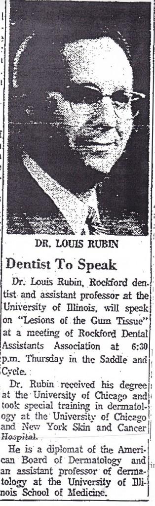 Rubin, Dr. Louis