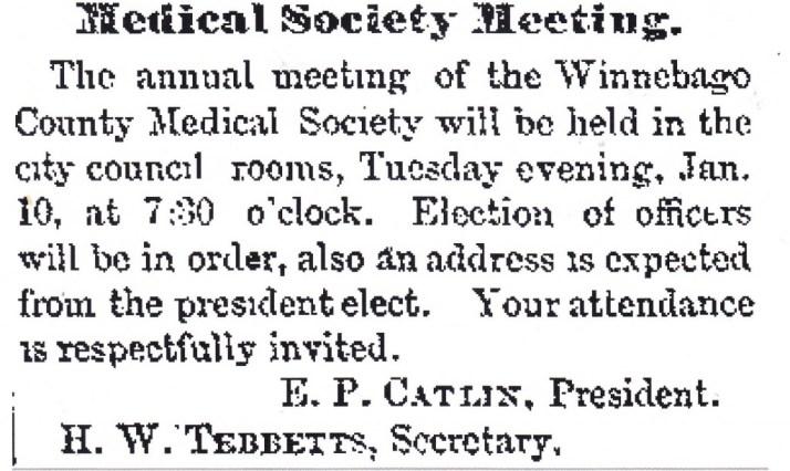 Winnebago Medical 1882