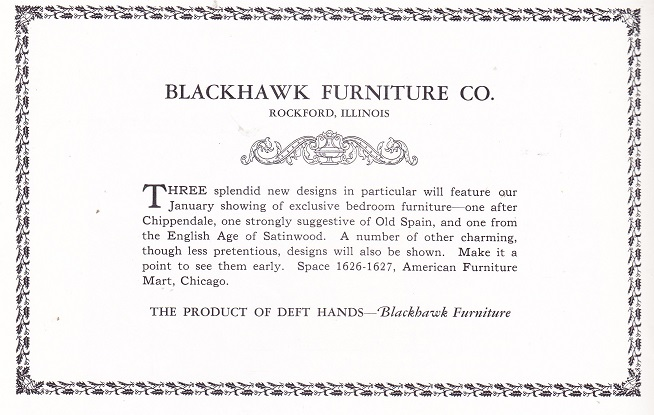 Blackhawk Furniture Co 1921 RPLs Local History