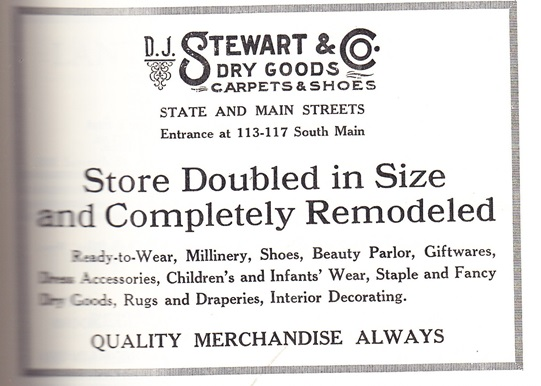 D.J. Stewart & Co. Doubled in Size ad