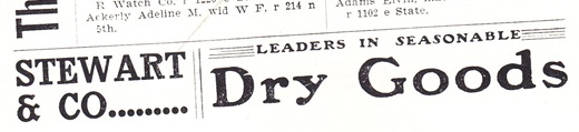Stewart & Co. Dry Goods ad