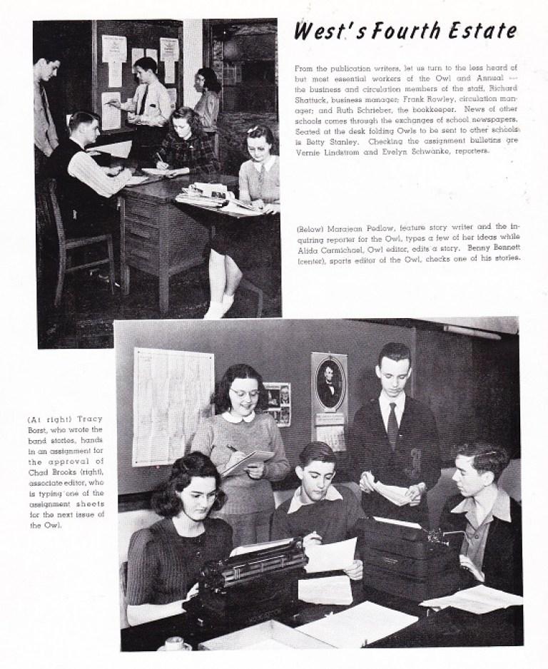 West High School 1941