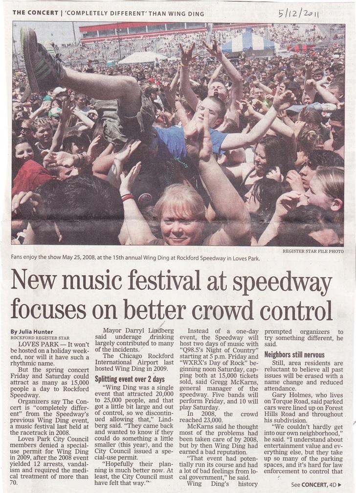 Rockford Speedway Music Festival