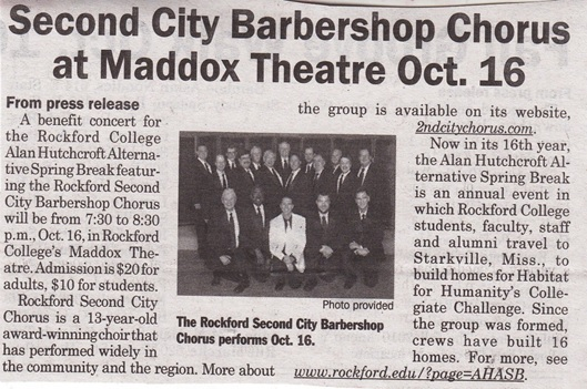 Second City Barbershop Chorus