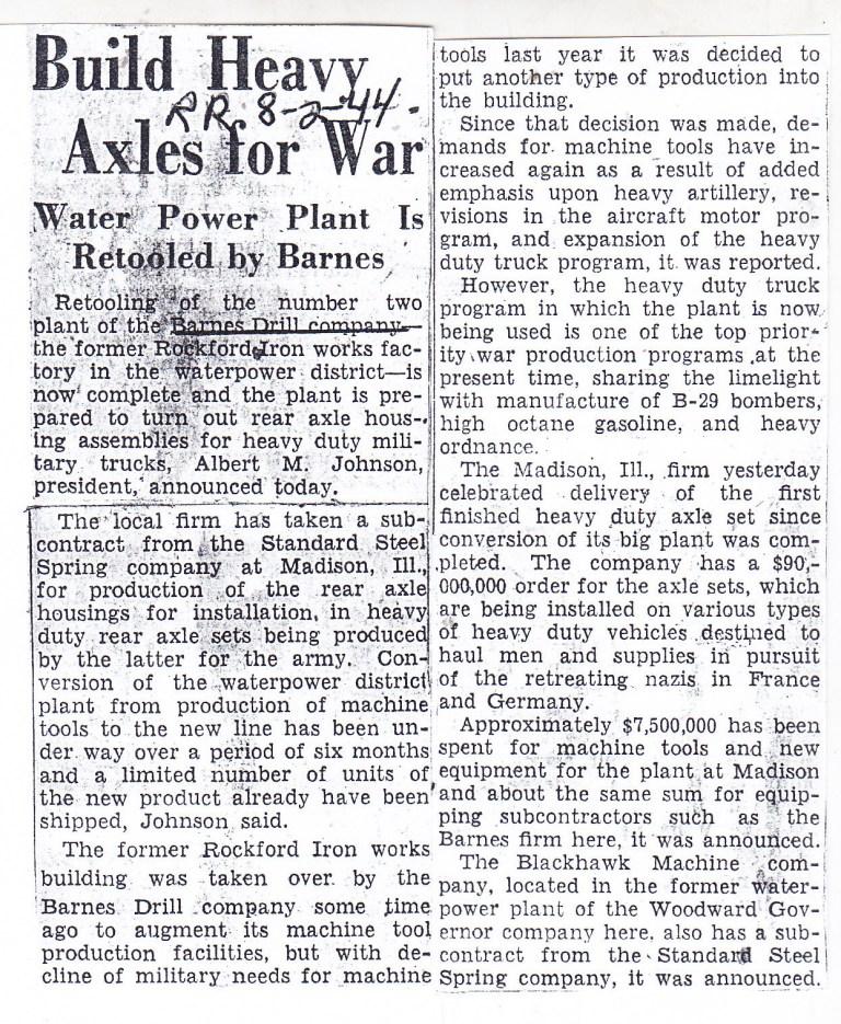 Barnes Drill - 1944
