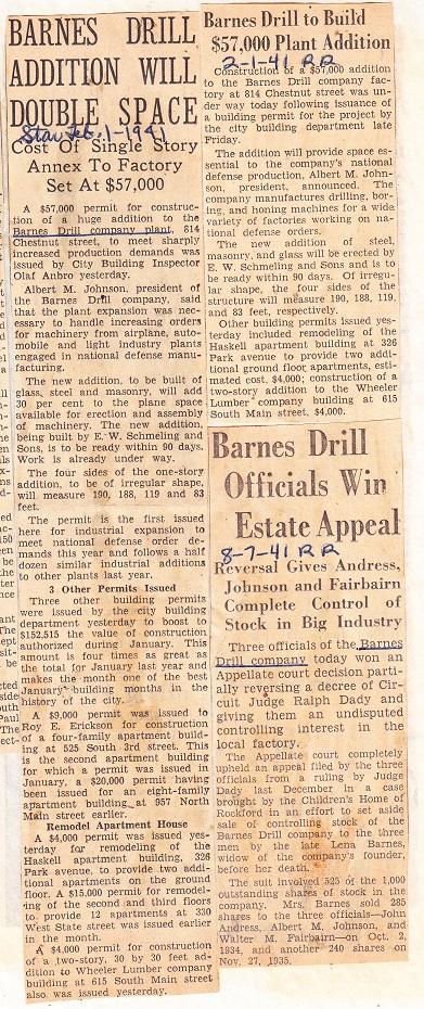 Barnes Drill Addition 1941