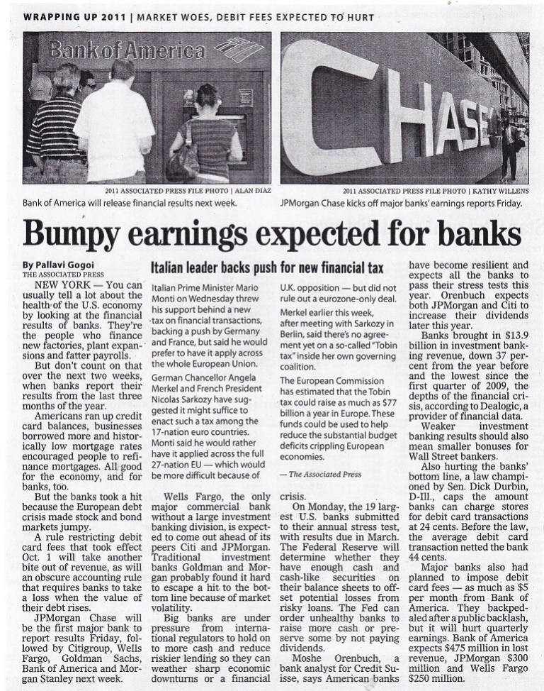 Bumpy Earnings