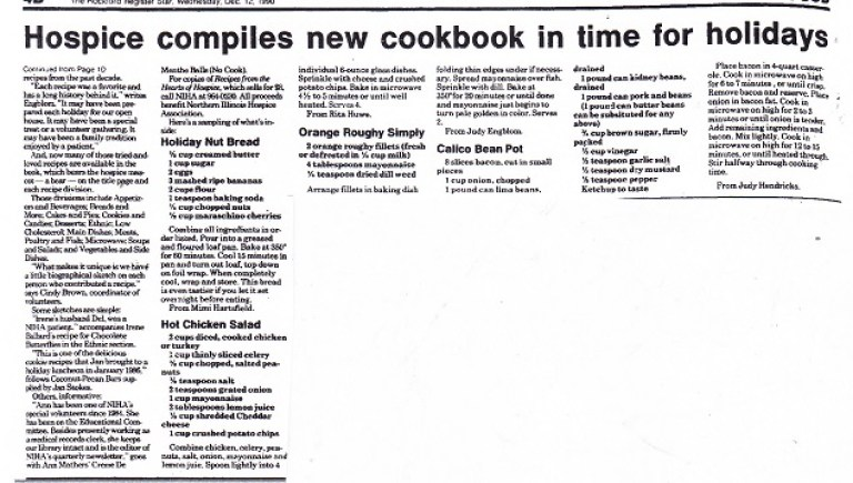 Hospice cook