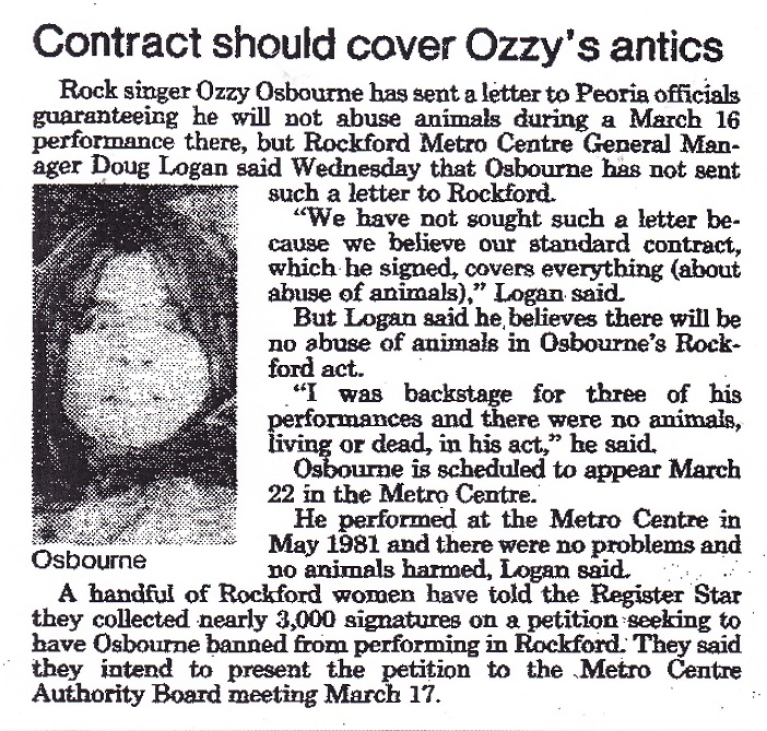 Ozzy - contract