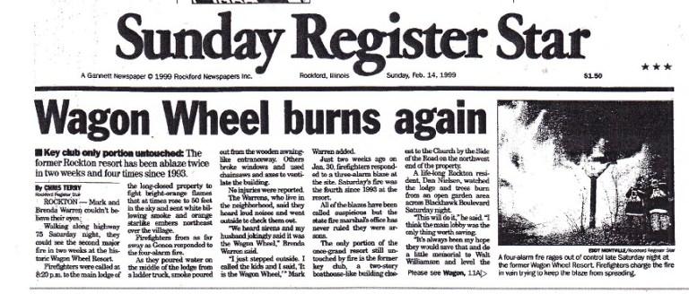 Wagon Wheel burns again